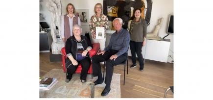 Checkübergabe an den Verein Sterbehospiz, Vertreten durch Frau Heidi Zumbrunnen und Herrn Dr. Greusing